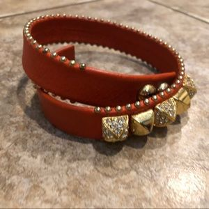 Juicy Couture orange wrap bracelet